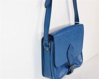 Louis Vuitton Blue Epi Handbag