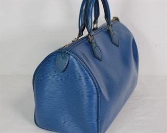 Louis Vuitton Blue Epi Speedy