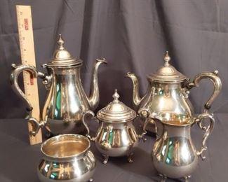 Vintage Sterling Silver 5Piece Tea  Coffee Set