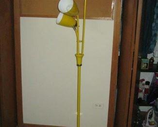 Yellow retro floor lamp