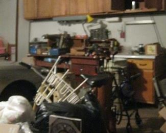 MIscellaneous tools and garage