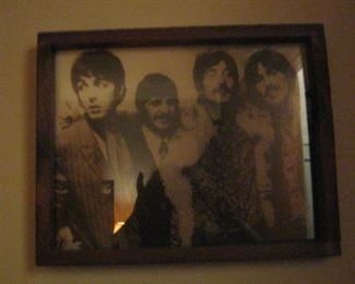 Beatle Photo - Sgt. Pepper's release party at Brian Epstein apartment in 1967 where Paul met Linda