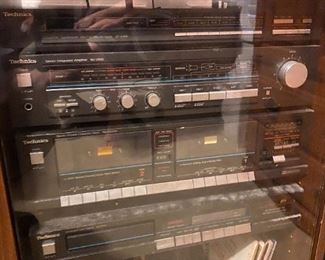 Vintage stereo components and albums