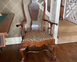 Antique Chippendale ball & claw foot chair