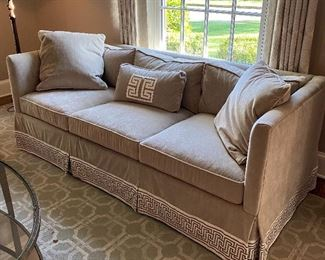 Custom upholstered sofa
