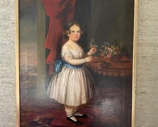 "Antique portrait 48"" x 38"""