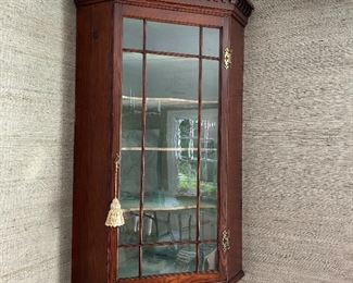 Antique corner cabinet