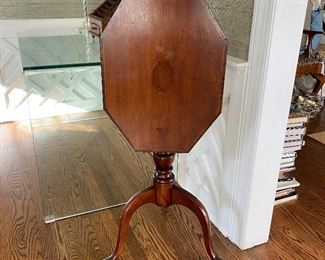 Antique tilt top candlestand