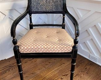 Ebonized Regency chair