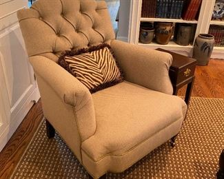 Custom upholstered easy chair