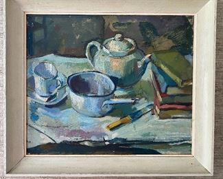 Oil - Still life - by P. Milton