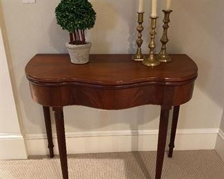 Antique flip top card table