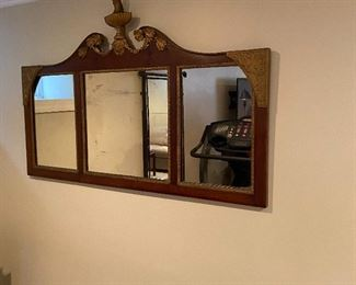Antique triple mirror