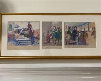 Three illustrations by Stanley Arthurs