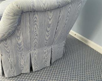Detail of tufted chair