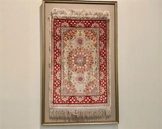 """Turkish silk rug 18"""" x 32""""                                        1200.00"""