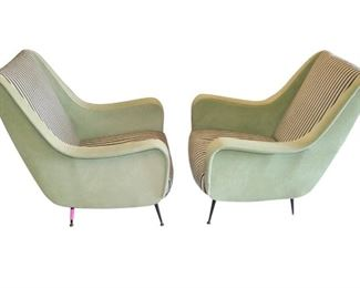 Pair of Mid Century Modern Chairs in the manner of Marco Zanuso