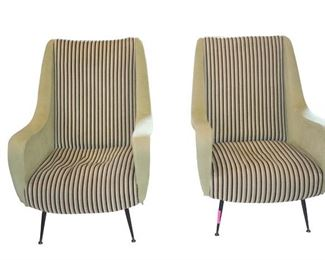 Front - Pair of Mid Century Modern Chairs in the manner of Marco Zanuso
