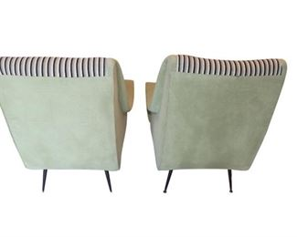 Back - Pair of Mid Century Modern Chairs in the manner of Marco Zanuso