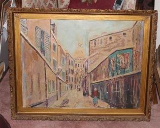 Gorgeous Original Oil Painting Street scene