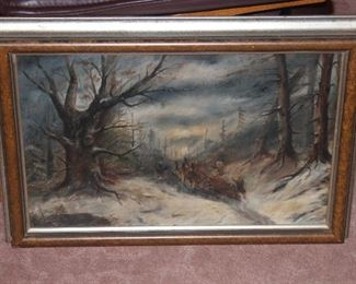 Gorgeous Winter scene oil painting