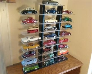 DieCast Toy Cars with Display Case