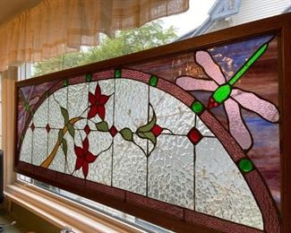 Dragonfly Stained Glass WindowWall Hanging