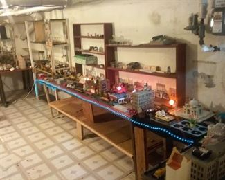 Model Train Set and Various Modeling Accessories