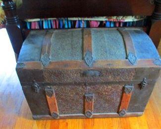 !9th century coach trunk
