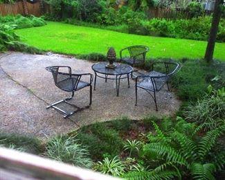 Iron garden furniture