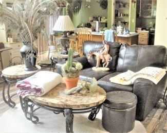 Contemporary clean furnishings...some areas with a southwest theme.