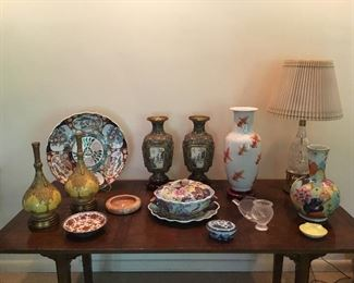collection of vases & decorative accessories