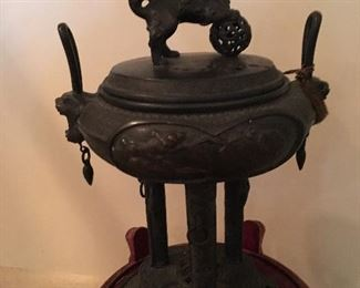 ornate antique Japanese incense burner