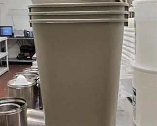(4) Small Trash Cans