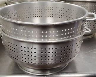 (2) 15in Metal Strainers