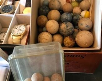 clay marbles and shooters