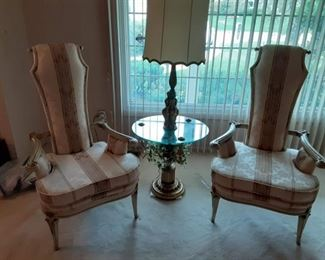 Funky French provincial side chairs