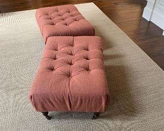 2 - Tufted Ottomans by Hallman
