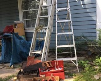 14 Aluminum Extension  Step Ladders