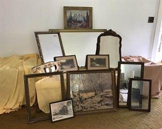 Antique Modern  Frames, Prints, Mirrors
