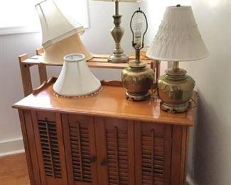 Cabinets, Bookshelf, Lamps