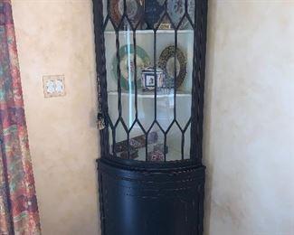 Antique corner cabinet in excellent condition - Price $1800