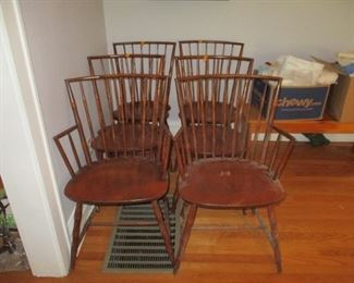 Six vintage chairs