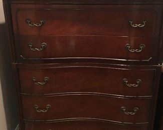 "Lovely Mahogany Chest of Drawers      Height   4'      Width    40""      Depth    20"""