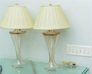 Athena Bassa for Donghia Sheer Amber Lamps
