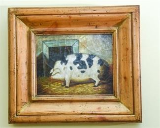 Decorative Painting of a Hog