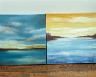 Evelyn Edmedes Two2 Abstract Landscapes on Canvas