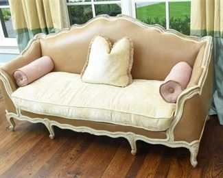Upholstered Provincial Style Sofa