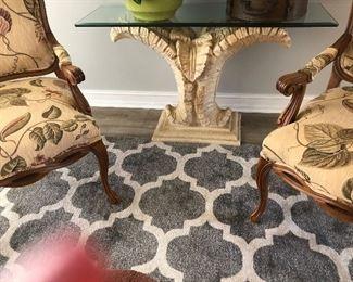 PALM LEAF STYLE SOFA TABLE