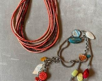 009 Chicos Glass Beaded Necklace and More